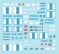 Star Decals 1/35 Peacekeepers in the Middle East Part 2 UNEF Suez, Sinai & Gaza # 35-C1292